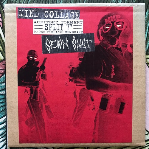 MIND COLLAGGE/SEWN SHUT Split (Sounds of Betrayal - Sweden original) (EX) 7""