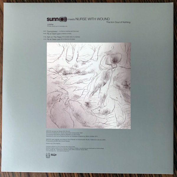 SUNN O))) MEETS NURSE WITH WOUND The Iron Soul Of Nothing (Ideologic Organ - Austria original) (NM) 2LP