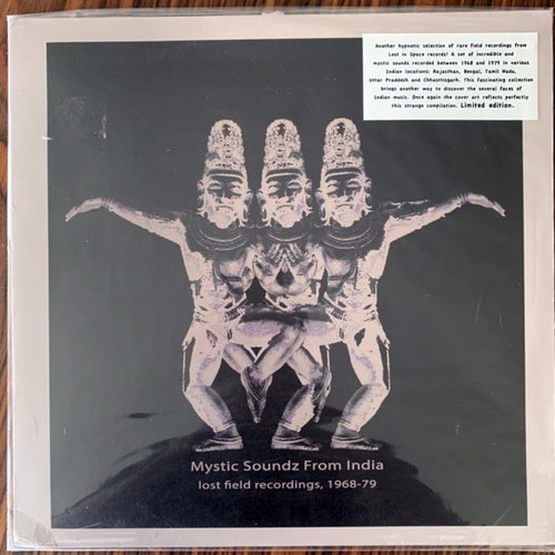 VARIOUS Mystic Soundz From India (Lost Field Recordings, 1968-79) (Lost In Space - France original) (VG+) LP