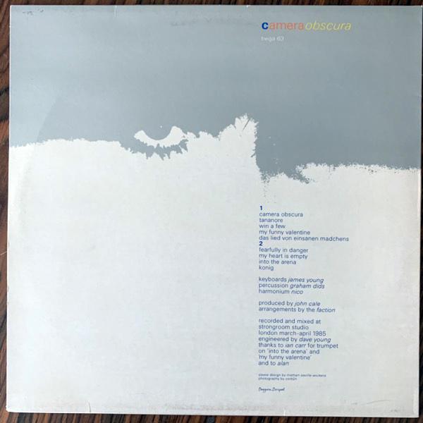 NICO + THE FACTION Camera Obscura (Beggars Banquet - UK original) (VG+) LP