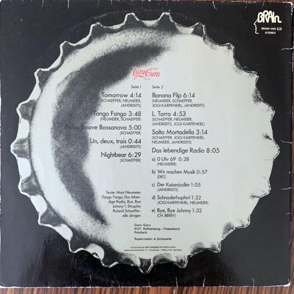 GURU GURU Tango Fango (Brain - Germany 1977 reissue) (VG) LP