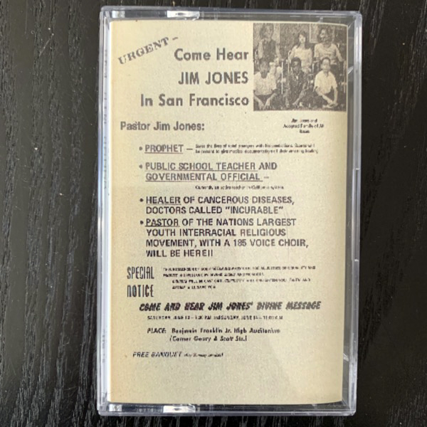 REV JIM JONES' PEOPLE'S TEMPLE CHOIR He's Able (TPOS - USA reissue) (NM) TAPE
