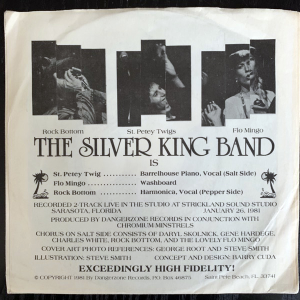 SILVER KING BAND, the My Balls Are Blue (Blue vinyl) (Dangerzone - USA original) (VG+) 7""