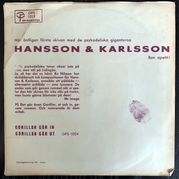 "HANSSON & KARLSSON Lidingö Airport (GP - Sweden original) (VG) 7"""