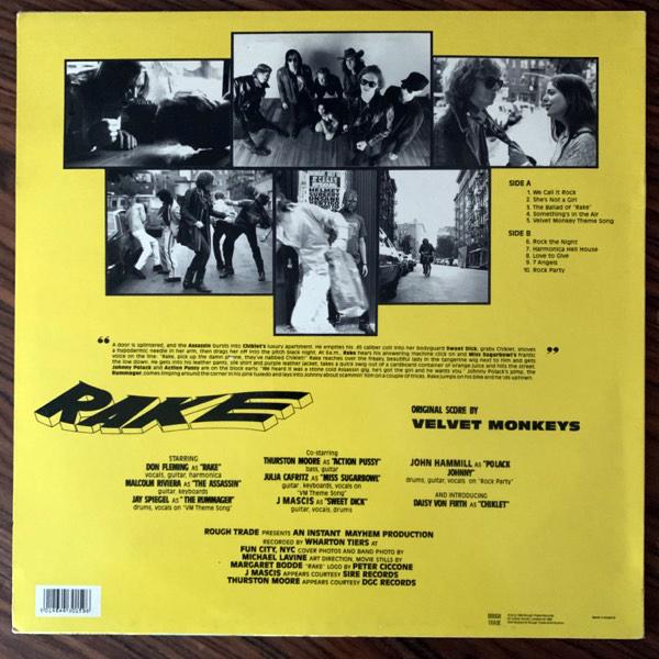 VELVET MONKEYS, the Rake (Rough Trade - UK original) (EX) LP
