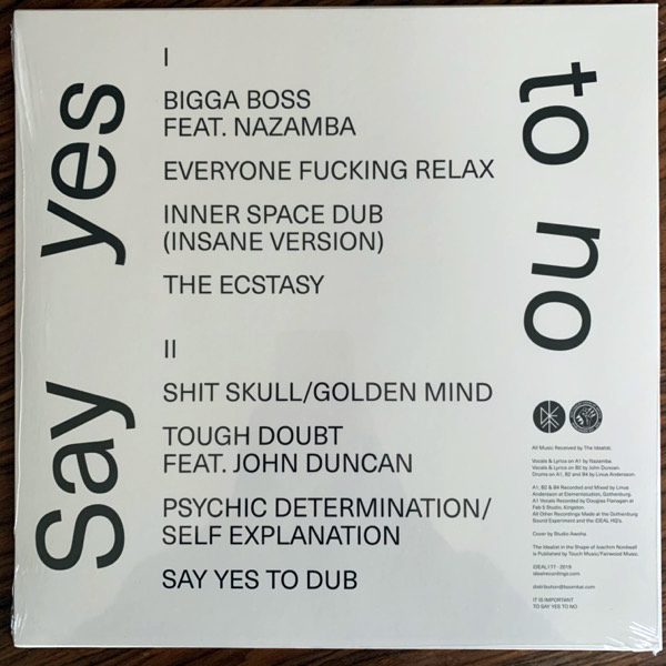 IDEALIST, the Say Yes To No (iDEAL - Sweden original) (NEW) LP