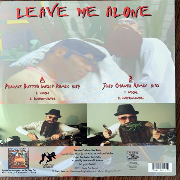 DR. DOOOM Leave Me Alone Remixes (Funky Ass - USA original) (VG+) 12""