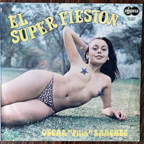 "OSCAR ""PITIN"" SANCHEZ El Super Fieston (Infopesa - Peru original) (VG+) LP"