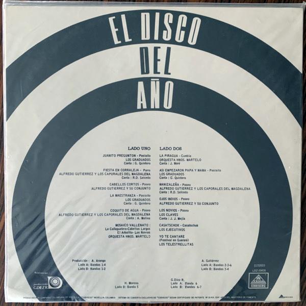 VARIOUS El Disco Del Año (Zelda - Colombia original) (EX/VG) LP