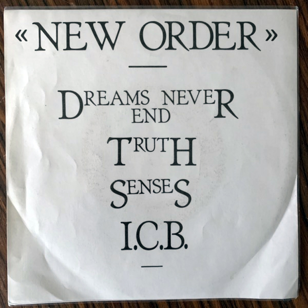 NEW ORDER E.P. (No label - UK original) (VG+/VG) 7""