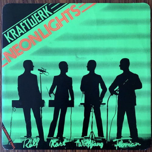 KRAFTWERK Neon Lights (Luminous vinyl) (Capitol - UK original) (VG+) 12""