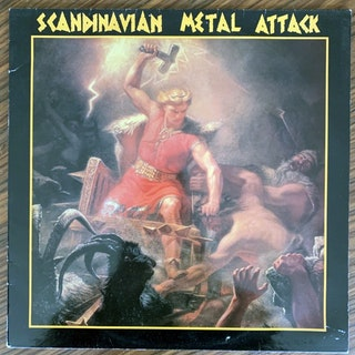 VARIOUS Scandinavian Metal Attack (Wave - Sweden original) (VG+) LP