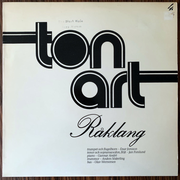 RÅKLANG Råklang (Tonart - Sweden original) (VG/VG+) LP