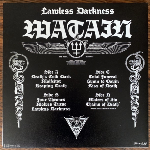 WATAIN Lawless Darkness (Season of Mist - France 2nd press) (NM) 2LP
