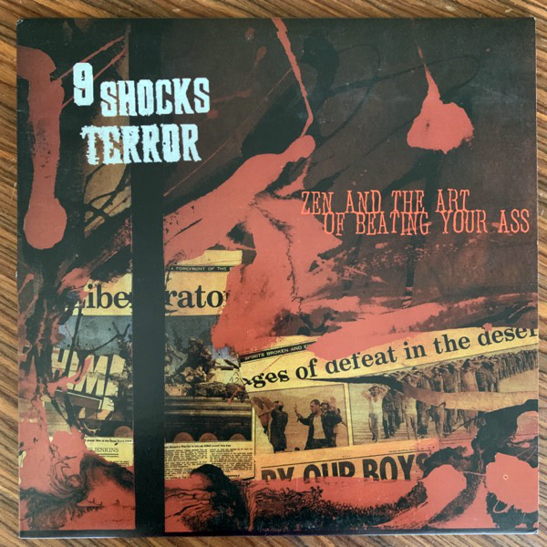 9 SHOCKS TERROR Zen And The Art Of Beating Your Ass (Blue marbled vinyl) (Havoc - USA original) (VG+/EX) LP