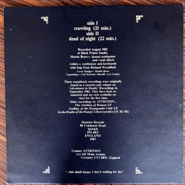 ATTRITION Death House (Hamster - UK 1987 reissue) (VG+/EX) LP