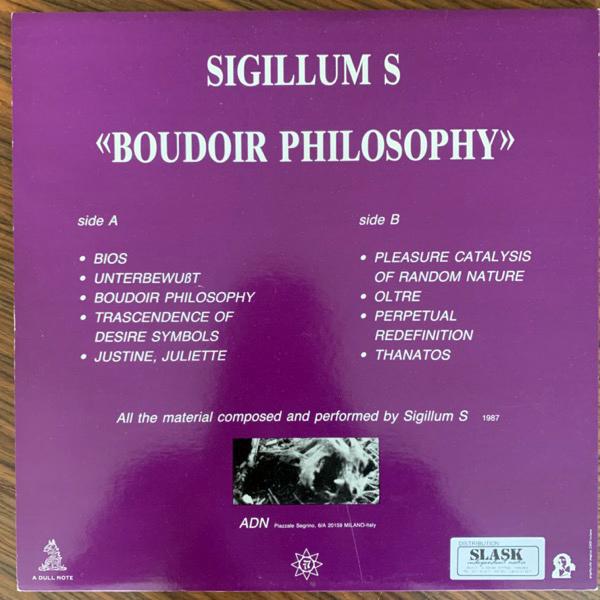 SIGILLUM S Boudoir Philosophy (White vinyl) (A Dull Note - Italy original) (EX) LP