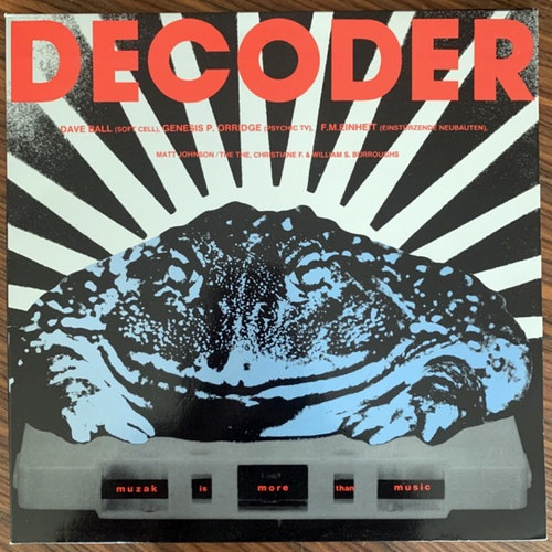 VARIOUS Decoder - The Soundtrack (What's So Funny About.. - Germany original) (EX/VG+) LP