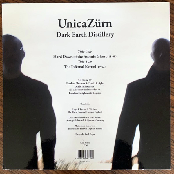 UNICAZÜRN Dark Earth Distillery (uZu - UK original) (EX/VG+) LP