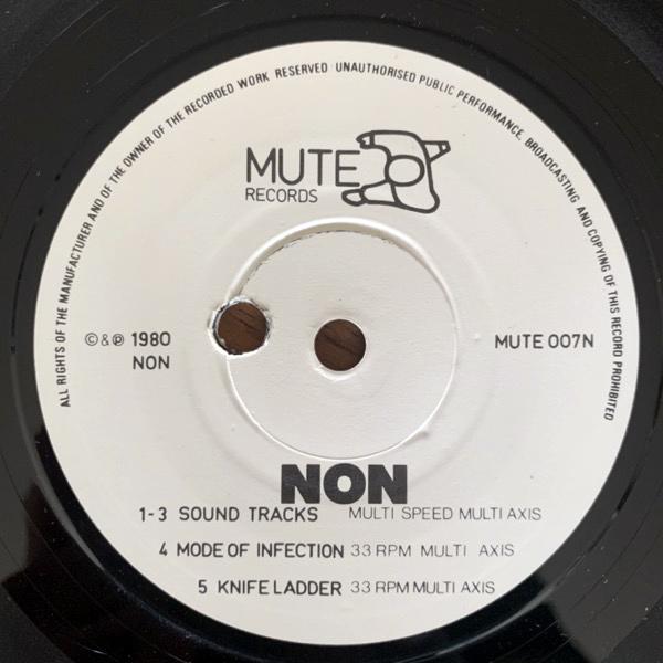 """NON + SMEGMA Smegma + NON (Mute - UK original) (VG+) 7"""""""