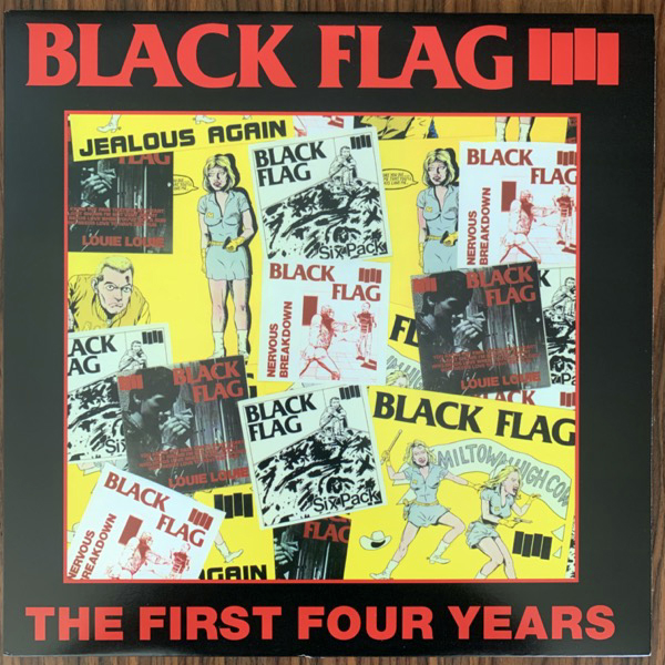 BLACK FLAG The First Four Years (SST - USA reissue) (VG+/EX) LP
