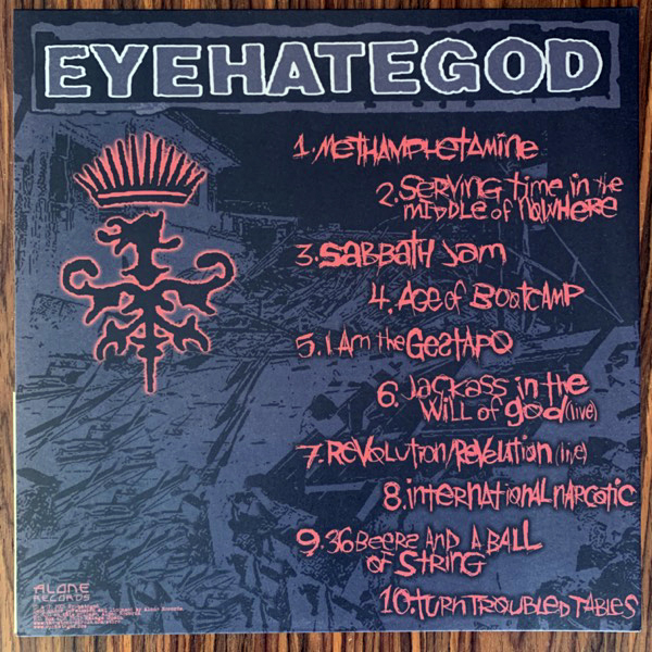 "EYEHATEGOD Preaching The ""End-Time"" Message (Alone - Spain reissue) (NM/EX) LP"