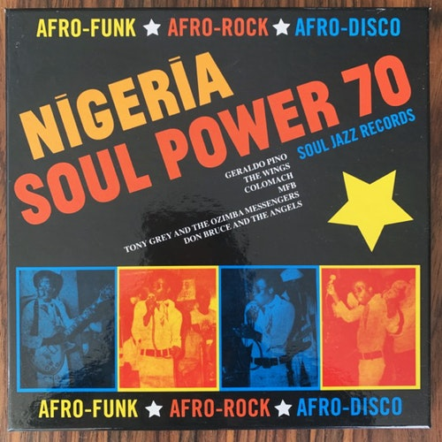 "VARIOUS Nigeria Soul Power 70 (Afro-Funk ★ Afro-Rock ★ Afro-Disco) (Soul Jazz - UK original) (NM) 5x7"" BOX"