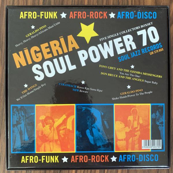"VARIOUS Nigeria Soul Power 70 (Afro-Funk ★ Afro-Rock ★ Afro-Disco) (Soul Jazz - UK original) (NM) 5x7"" BOX"