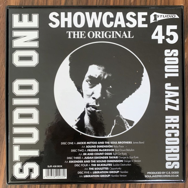 "VARIOUS Studio One Showcase 45 (Soul Jazz - UK original) (NM) 5x7"" BOX"