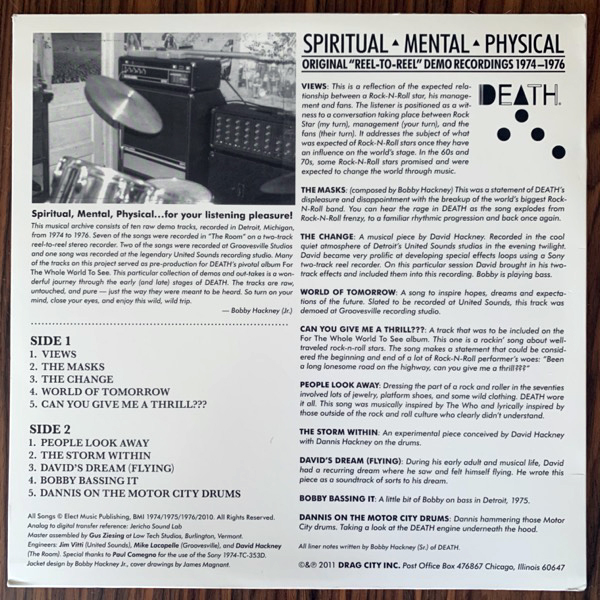 DEATH Spiritual | Mental | Physical (Drag City - USA original) (EX) LP