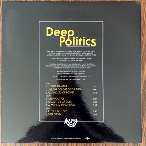 GRAILS Deep Politics (Temporary Residence - USA original) (EX/NM) 2LP