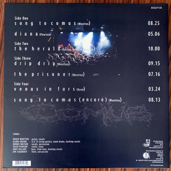 COMUS East Of Sweden - Live At The Melloboat Festival 2008 (Green vinyl) (Rise Above - UK original) (NM) 2LP
