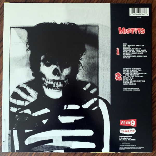 MISFITS Misfits (Plan 9 - USA reissue) (EX) LP