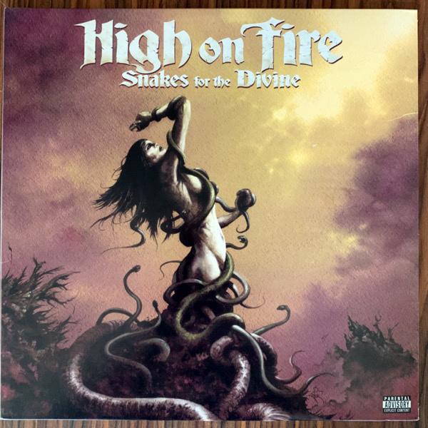 HIGH ON FIRE Snakes For The Divine (E1 Music - USA original) (VG+/EX) 2LP