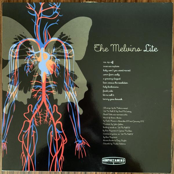 MELVINS LITE, the Freak Puke (Skinner design) (Amphetamine Reptile - USA original) (VG+/EX) PIC LP