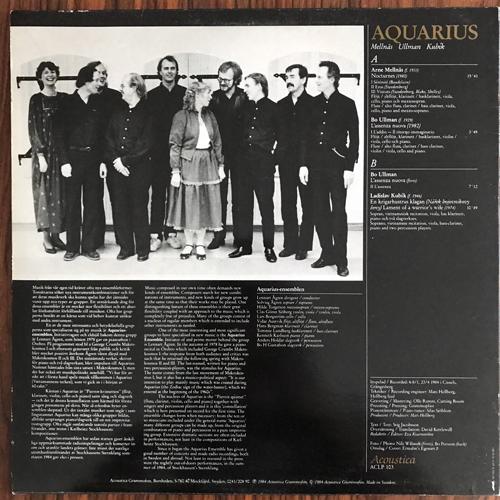 ARNE MELLNÄS, BO ULLMAN, LADISLAV KUBÍK Aquarius (Acoustica Grammofon - Sweden original) (VG+/EX) LP