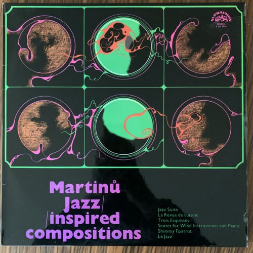 BOHUSLAV MARTINU Jazz-inspired Compositions (Supraphon - Czechoslovakia original) (VG+/EX) LP