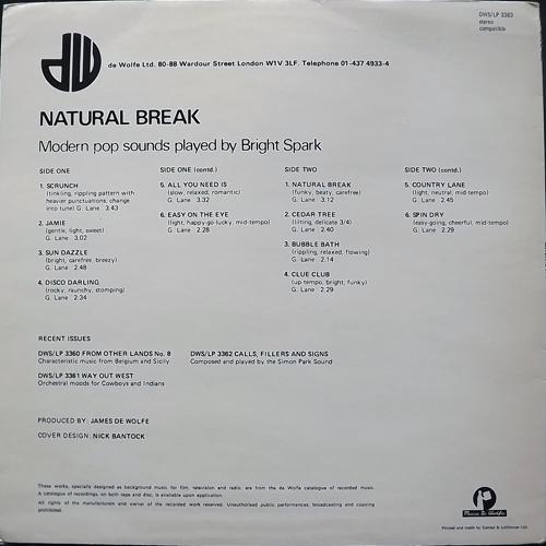 BRIGHT SPARK Natural Break (Music De Wolfe - UK original) (VG/VG+) LP
