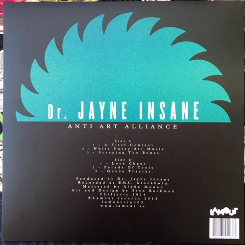 DR. JAYNE INSANE Anti Art Alliance (Lamour - Sweden original) (NEW) LP