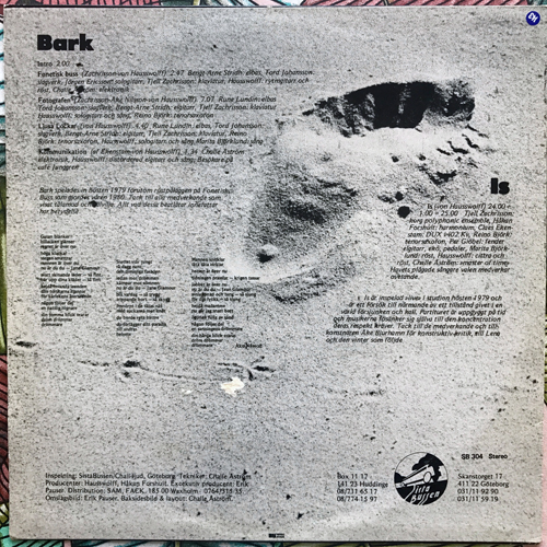 HAUSSWOLFF Bark & Is (Sista Bussen - Sweden original) (VG) LP