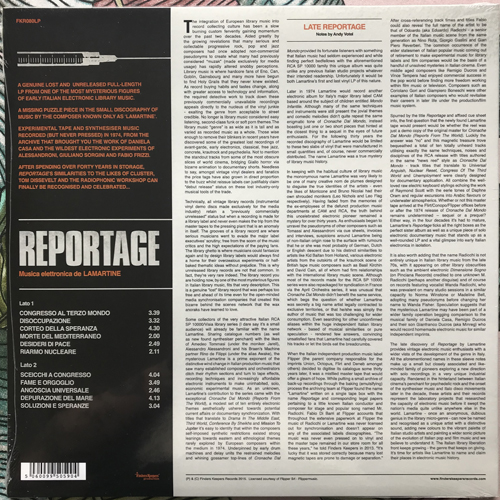 LAMARTINE Reportage (Musica elettronica da LAMARTINE) (Finders Keepers - UK original) (SS) LP