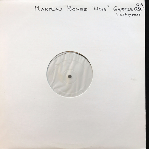 MARTEAU ROUGE Noir (Test press) (Gaffer - France original) (EX/NM) LP