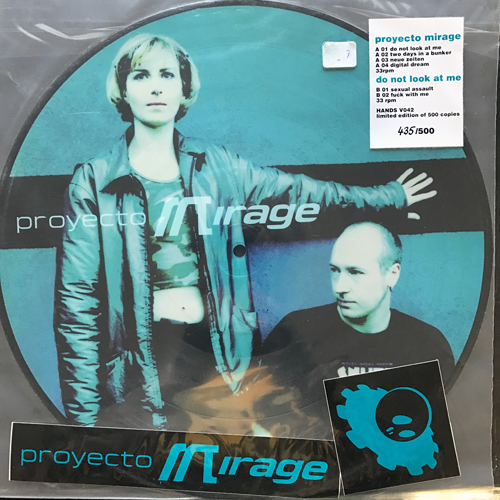 "PROYECTO MIRAGE Do Not Look At Me (Hands - Germany original) (VG+/NM) PIC 12"" EP"