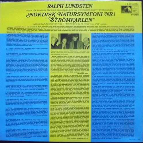 """RALPH LUNDSTEN Nordisk Natursymfoni Nr 1 """"Strömkarlen"""" (His Master's Voice - Sweden original) (EX) LP"""