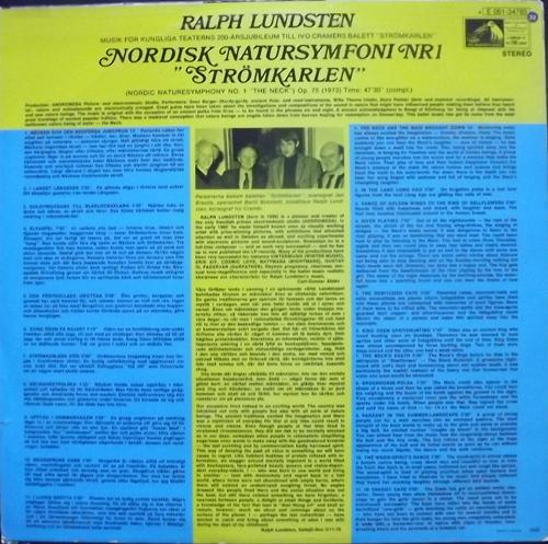 """RALPH LUNDSTEN Nordisk Natursymfoni Nr 1 """"Strömkarlen"""" (His Master's Voice - Sweden original) (VG+/VG) LP"""