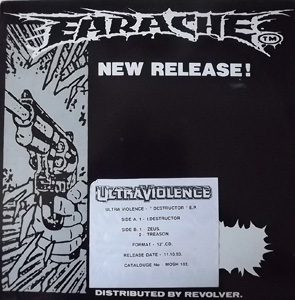"ULTRAVIOLENCE Destructor EP (Promo) (Earache - UK original) (EX/VG) 12"" EP"