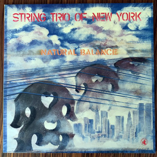 STRING TRIO OF NEW YORK Natural Balance (Black Saint - Italy original) (EX/NM) LP