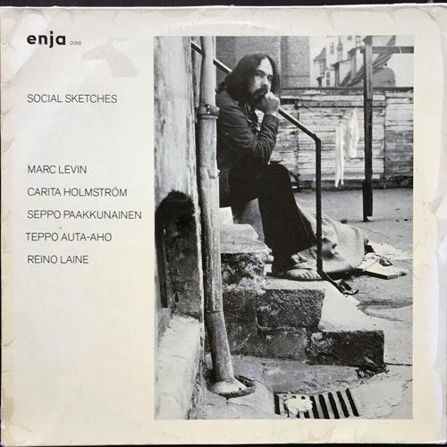 MARC LEVIN Social Sketches (Enja - Germany original) (VG/VG+) LP