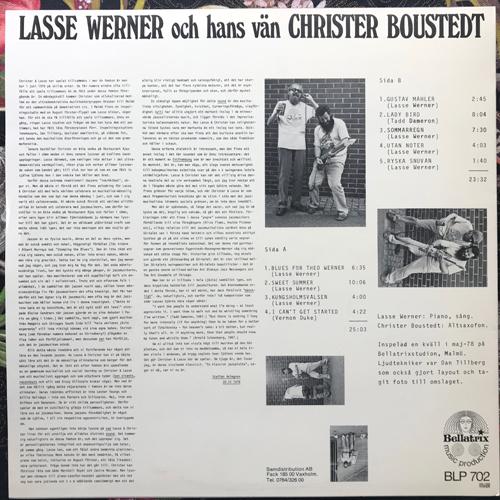 LASSE WERNER OCH HANS VÄN CHRISTER BOUSTEDT Lasse Werner Och Hans Vän Christer Boustedt (Bellatrix - Sweden original) (EX) LP