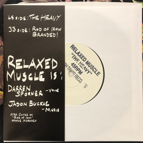 "RELAXED MUSCLE ""The Heavy"" E.P. (Rough Trade - UK original) (EX) 7"""